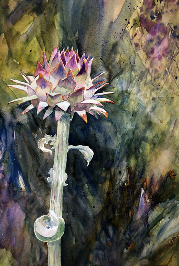 "Lorrie Herman - watercolor ""Castle Artichoke"""