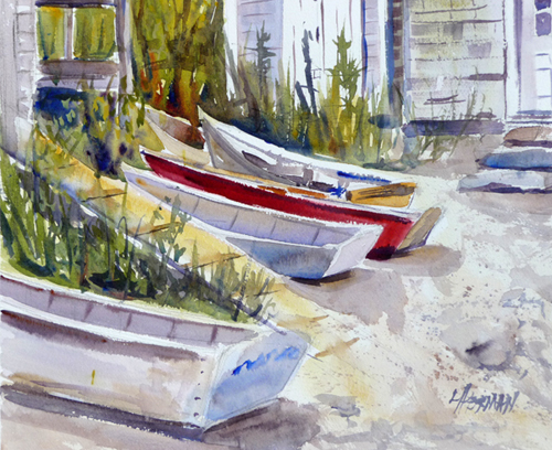 lorrie herman waterscape Fish Beach Dingies